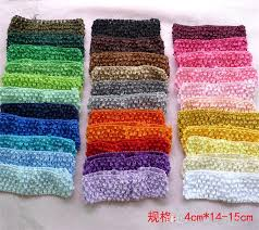 crochet hair bands baby kids hair band 1 7 inch crochet baby hairbands