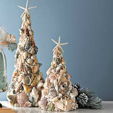 Beach Christmas Tree Topper - 275 best seashell ornaments trees u0026 decorations images on