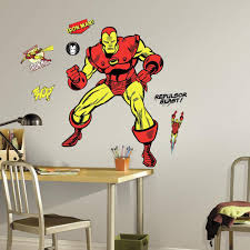 roommates 5 in x 19 in mickey and friends mickey mouse peel and 5 in x 19 in classic iron man comic 18 piece peel