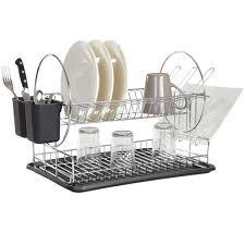vaisselle de cuisine egouttoir à vaisselle noir rangement déco cuisine cuisine