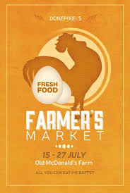download farmers market free flyer psd template for photoshop