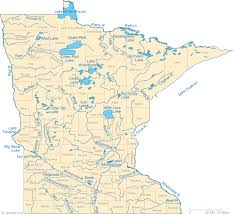 Minnesota lakes images Map of minnesota lakes streams and rivers gif