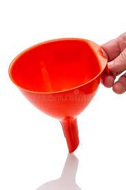 entonnoir de cuisine arrosage orange d entonnoir de cuisine photo stock image du