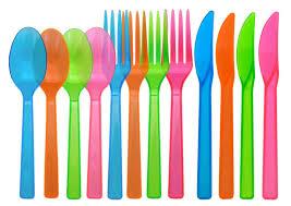 plastic utensils assorted neon blacklight reactive 48 plastic