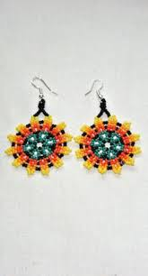 Native American Beaded Earrings Huichol Huichol Chaquira Style Flower Earrings 18 00 Via Etsy Ethnic