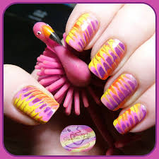 marble nail art with toothpick nail art ideas
