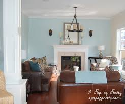 Blue Livingroom Living Room Makeover Woodlawn Blue U0026 Creamy White Updated Pics
