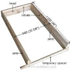 Build Exterior Door Frame Shed And Playhouse Doors A Door Frame