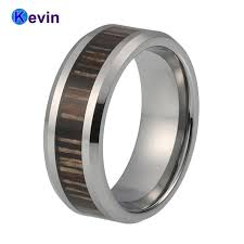 wood inlay wedding band wood inlay tungsten ring carbide ring wedding band for men