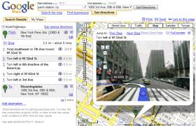 driving directions maps combines driving directions with view