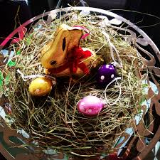 Easter Decorations In London by Easter Decorations Lindt Bunny Nestled Into Easter Grass On An