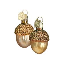small acorn ornaments old world christmas glass acorns