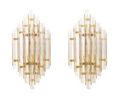Brass Sconces Vintage Italian Murano Glass U0026 Brass Sconces Danish Modern L A