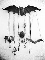 design toscano vampire bat key holder wall sculpture in gray stone