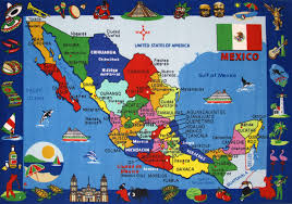 States In Mexico Map Large Detailed Tourist Illustrated Map Of Mexico Mexico Large