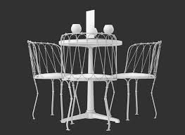 Black Bistro Table And Chairs 3d Bistro Table And Chair Set Cgtrader