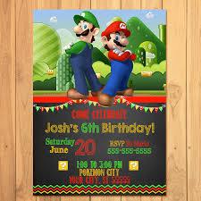 super mario birthday invitations u2013 gangcraft net