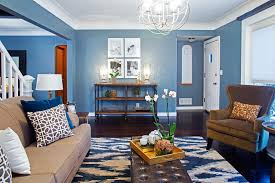 cool color scheme blue living room complementary triadic analogous