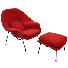 eero saarinen womb chair and ottoman upholstered in alexander