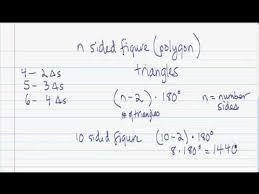The Sum Of Interior Angles Proving The Formula For The Interior Angle Sum Of A Polygon 2