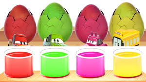 bathing colors surprise eggs toys with lightning mcqween cars 3