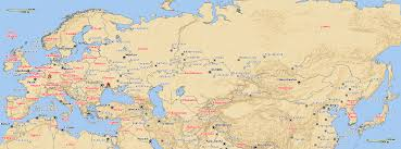 Asia Map With Capitals by Map Of Europe And Asia With Capitals Map Europe And Asia Map