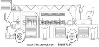 fire truck coloring page fire truck stock vector 381087124