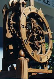 handmade woodenworks skeleton clock wooden gear clocks