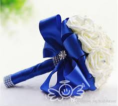 wedding flowers royal blue royal blue and gold wedding bouquets artificial royal blue orchid