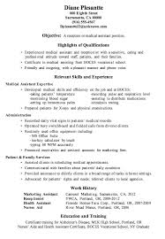 medical resume examples resume templates