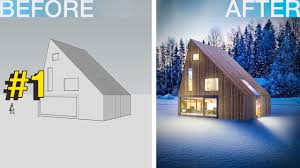 photoshop architecture visualization 1 winter country house