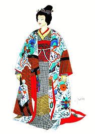 traditional japan national costumes antique kimono bridal