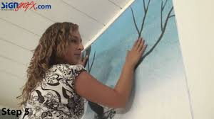 Photo Wall by How To Install A Wall Mural Youtube