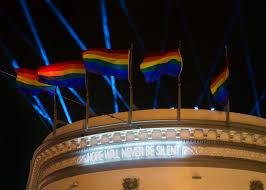 rainbow light installation lights up harvey milk plaza curbed sf