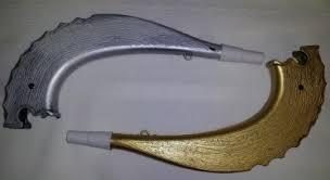 plastic shofar rosh hashanah plastic shofar in gold or silver