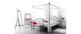 fer forgé chambre coucher table de chevet baroque métal miliboo