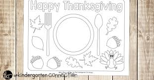 printable thanksgiving placemats