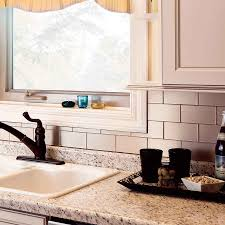 Peel N Stick Backsplash by Metallic Subway Tile Backsplash Amys Office
