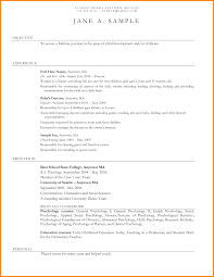 Un Resume Sample by 11 Child Care Resume Resume Reference
