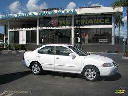nissan sentra xe 2002 2004 nissan sentra 1 8 s in cloud white 859130 jax sports cars