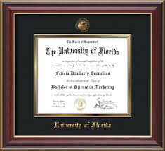 frames for diplomas of florida diploma frames and displays custom uf