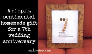 7th year wedding anniversary a simple gift idea for your 7th wedding anniversary via