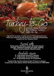 thanksgiving doha 2016 dinners and takeaway turkeys qatar