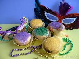 mardi gras king cake baby king cake cupcakes and mardi gras food hoosier