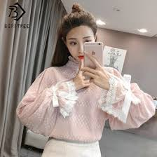 blouses with bows discount blouses bows 2018 white blouses bows on sale at dhgate com