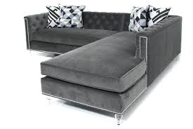 Sectional Sofa Grey Grey Tufted Sectional Sofa Gray Leather Couch Toronto 9639