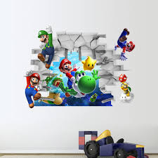 3d super mario wall stickers baby kid room wall decals removable