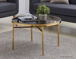 vintage gold side table vintage gold coffee table metal frame black glass top sofa side