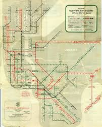 Manhattan Map Subway by System 1959 Gif