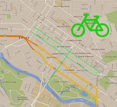 Portland Bike Map by New Bike Lanes And Boxes Make Debut On Capitol Blvd Main And